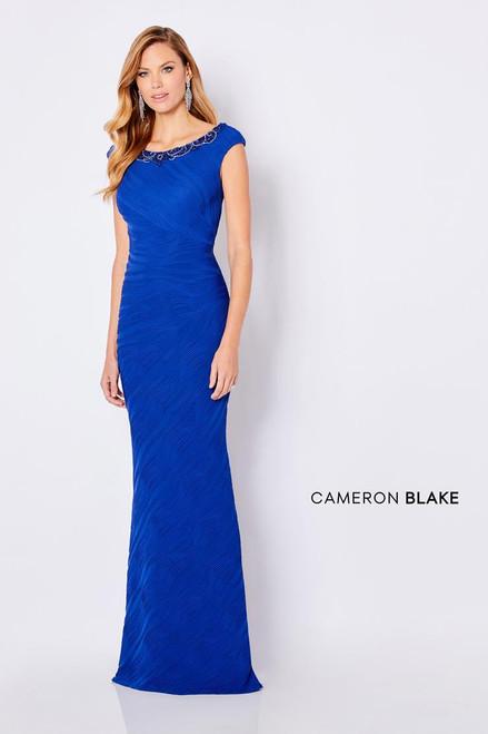 Cameron Blake by Mon Cheri 221695 Cap Sleeves Beaded Gown