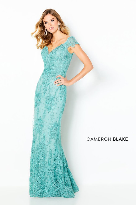 Cameron Blake by Mon Cheri 220631 Off Shoulder Corded Gown
