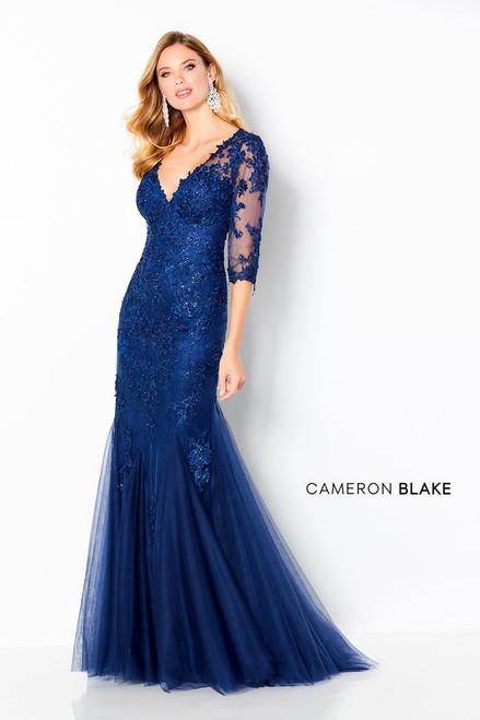 Cameron Blake by Mon Cheri 220644 Three-quarter Sleeve Gown