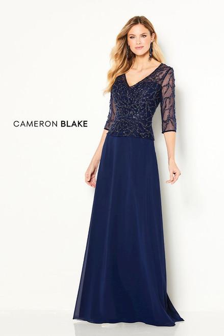 Cameron Blake by Mon Cheri 219688 Beaded Illusion Gown
