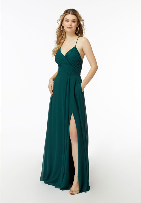 Morilee Bridesmaids 21725 Draped V-neck Chiffon Dress