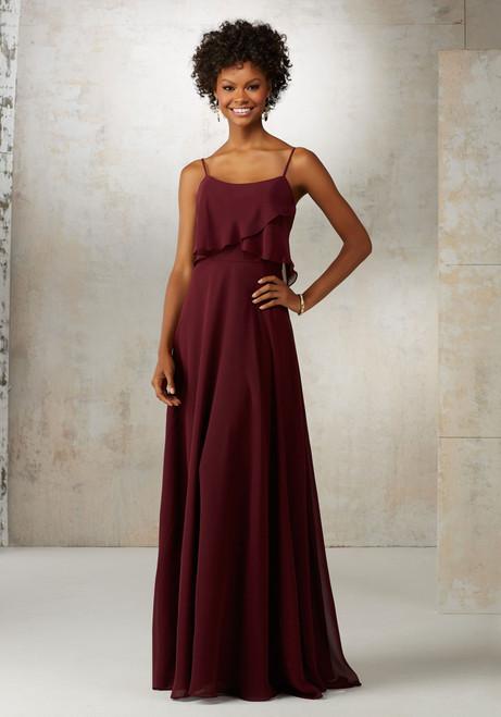 Morilee Bridesmaids 21515 Spaghetti Straps Chiffon Dress