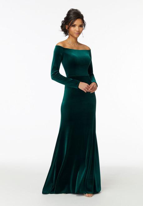 Morilee Bridesmaids 21724 Off Shoulder Long Sleeves Dress