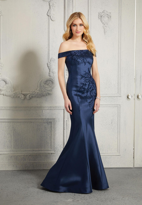 Morilee MGNY 72408 Metallic Embroidery Beaded Evening Gown