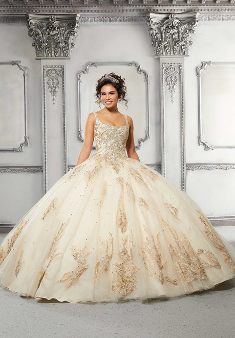 Morilee 89311 Tulle Over Sparkle Tulle Quinceanera Ball Gown