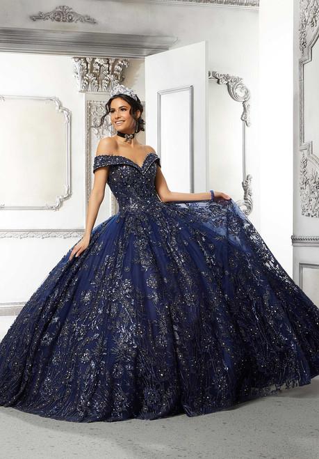 Morilee 89313 Floral Patterned Glitter Quinceanera  Dress
