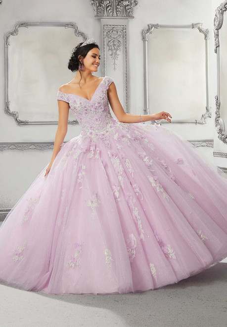 Morilee 89316 Off Shoulder Crystal Beaded Quinceanera Dress