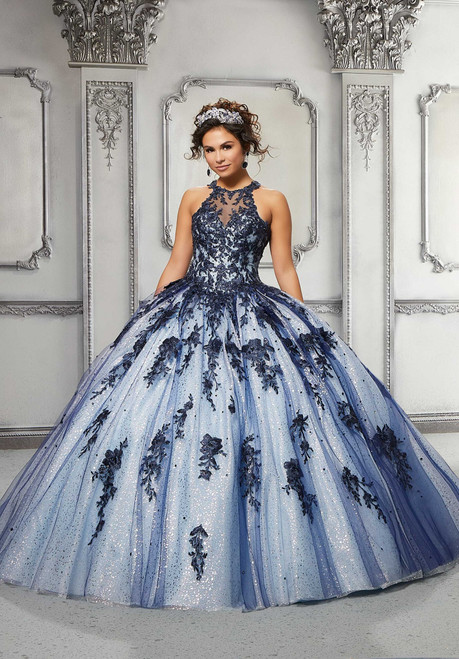 Morilee 89317 Contrasting Embroidered Beaded Quinceanera Dress