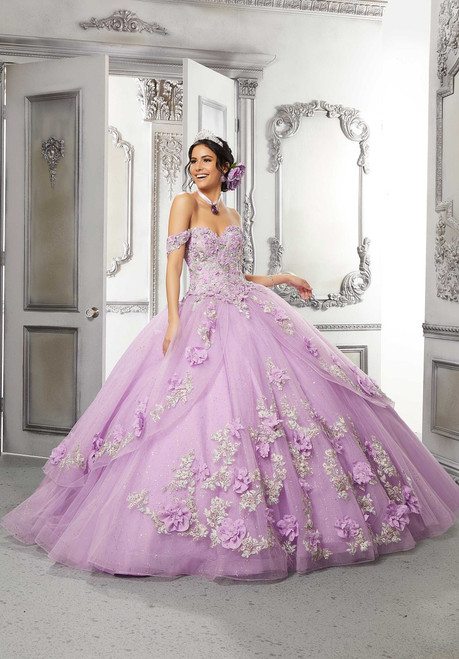 Morilee 89318 Pannier Skirt Tulle Floral Quinceanera Gown