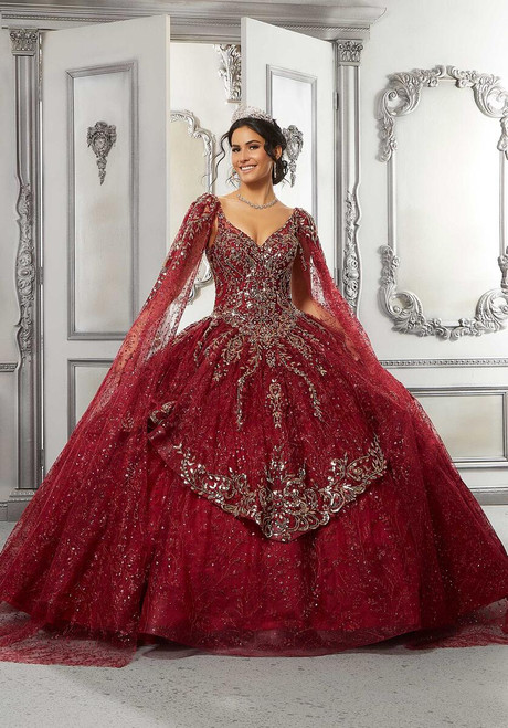 Morilee 89321 Allover Embroidered Beaded Quinceanera Dress