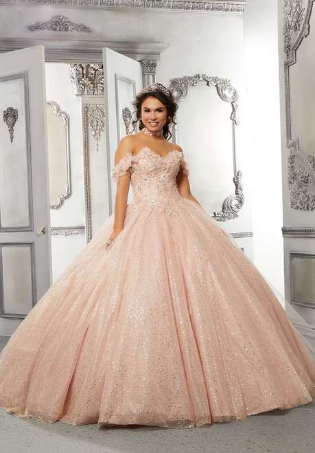 Morilee 89323 Metallic Embroidered Bodice Quinceanera Dress