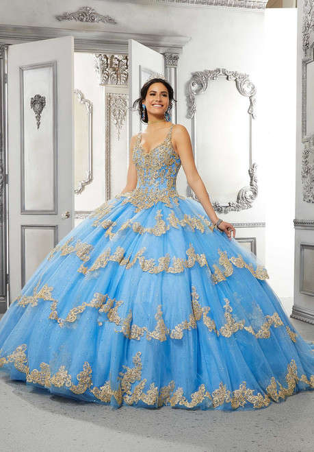 Morilee 89324 V-neck Bodice Bold Quinceanera Long Ball Gown