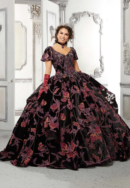 Morilee 89325 Dramatic Metallic Embroidery Quinceanera Dress