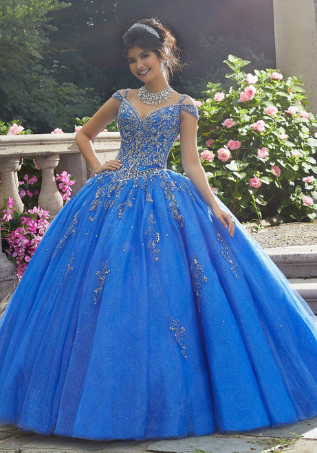 Morilee 89267 Sparkling Crystal Beaded Tulle Quinceanera Gown