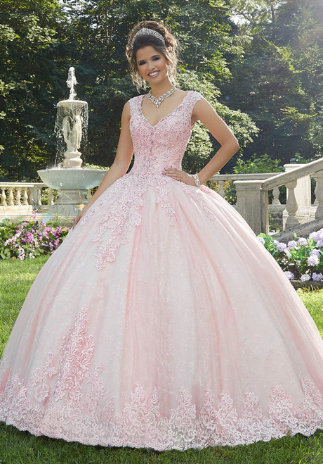 Morilee 89273 Elegant Crystal Beaded Lace Quinceanera Ballgown