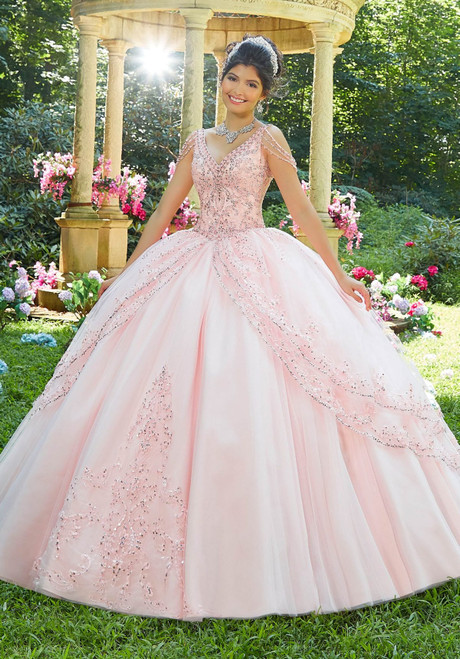 Morilee 89274 Beaded Embroidery Tulle Quinceanera Ballgown