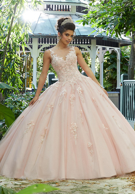 Morilee 89244 Crystal Beading on Three-Dimensional Ball Gown