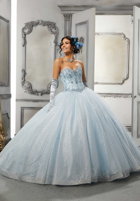 Morilee 60142 Crystal Beaded Embroidered Quinceanera Ballgown