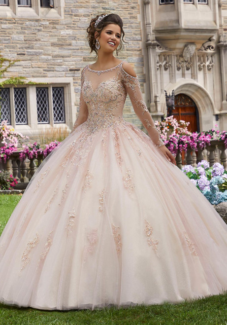 Morilee 60102 Crystal Bead Embroidered Quinceanera Ballgown