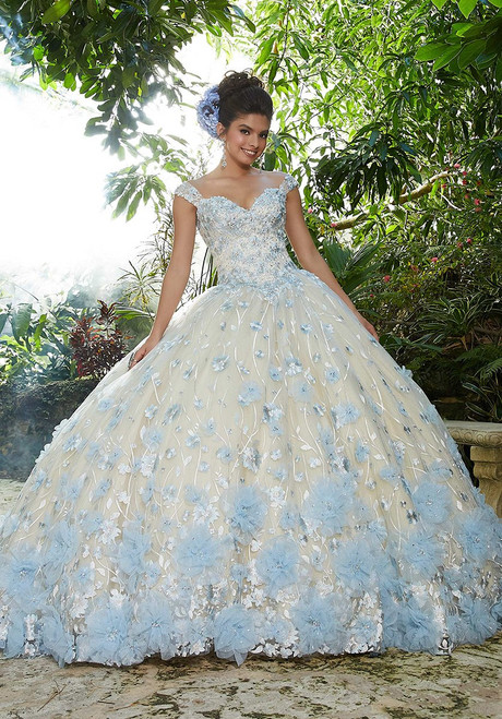 Morilee 34011 Crystal Beaded Allover Floral Embroidered Ballgown