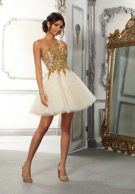 Morilee 9573 Sheer One-shoulder Bodice Tulle Damas Party Dress
