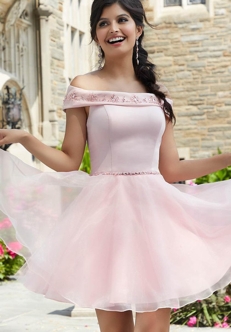 Morilee 9534 Beaded Embroidery Satin Bodice Damas Party Dress