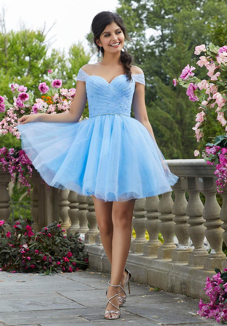 Morilee 9535 Crystal Beading Glitter Tulle Damas Party Dress