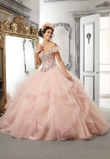 Morilee 60145 Sequined Metallic Lace Quinceanera Ballgown