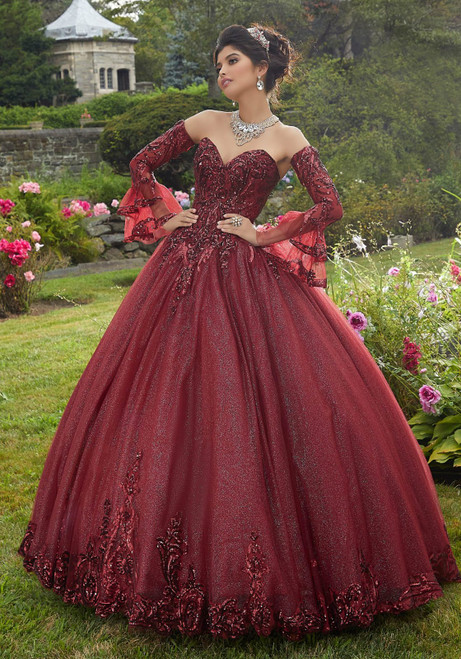Morilee 60110 Pattern Sequin Glitter Tulle Quinceanera Ballgown