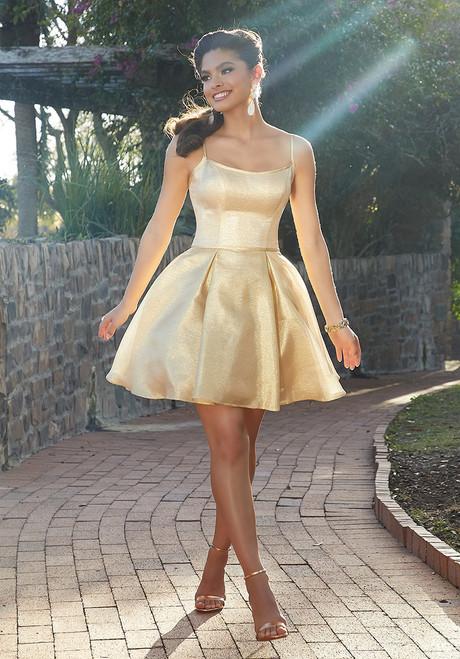 Morilee 9511 Shimmer Taffeta Damas Short Party Dress