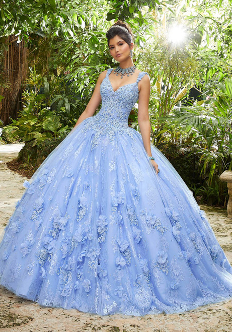 Morilee 89250 Crystal Beaded Lace Chantilly Lace Ballgown