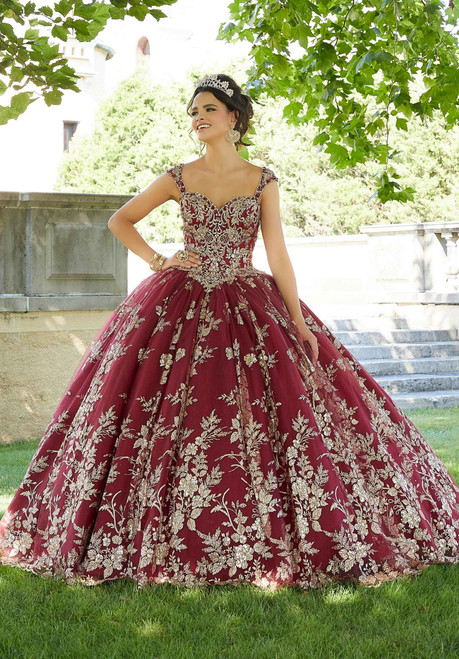 Morilee 60132 Rhinestone Crystal Beading Embroidered Ballgown