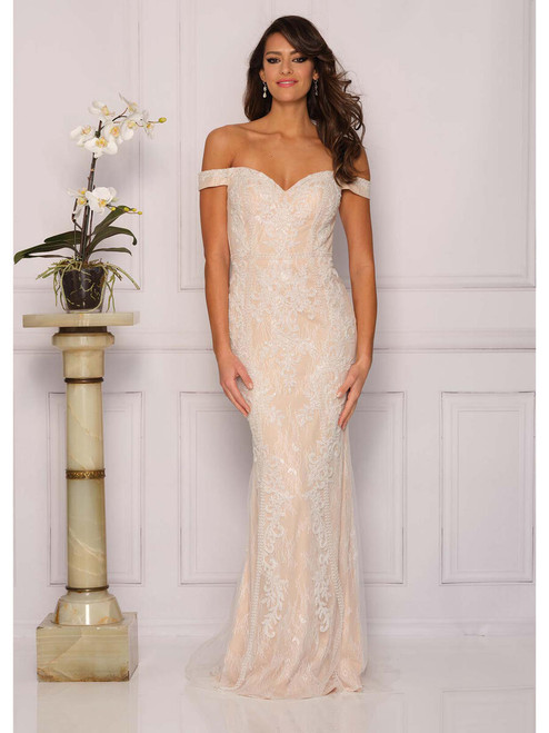 Dave and Johnny A10321 Lace Off the Shoulder Gown