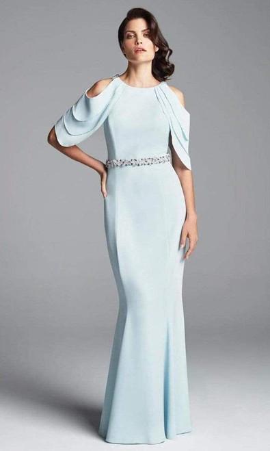 Alexander by Daymor 350 Cold Shoulder Waist Sheath Gown