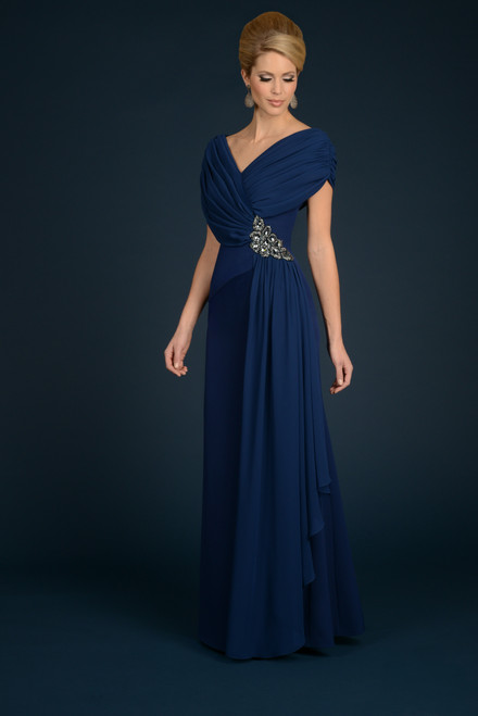 Alexander by Daymor 701 V-neck A-line Long Gown