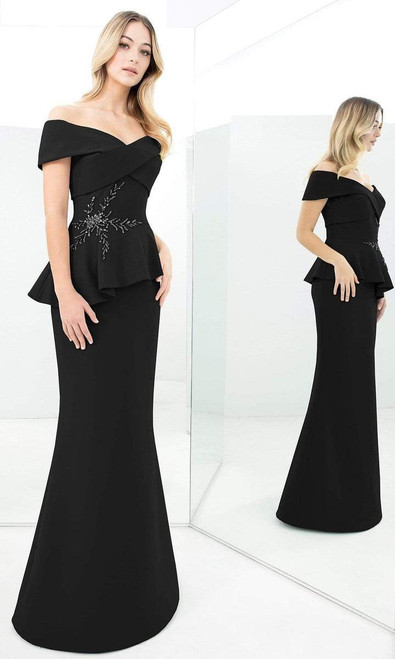 Alexander by Daymor 1350 Off-shoulder Beaded Sheath Gown