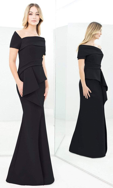 Alexander by Daymor 1361 Asymmetrical Short Sleeve Dress