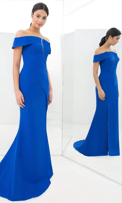 Alexander by Daymor 1373 Off-shoulder Front Cutout Gown
