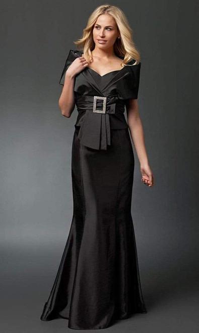 Alexander by Daymor 1033 Taffeta Fabric Wide Neck Gown