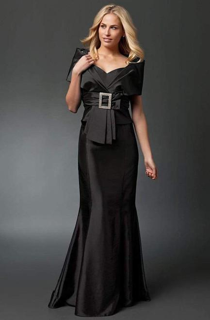 Alexander by Daymor 10332 Pleated V-neck Mermaid Dress