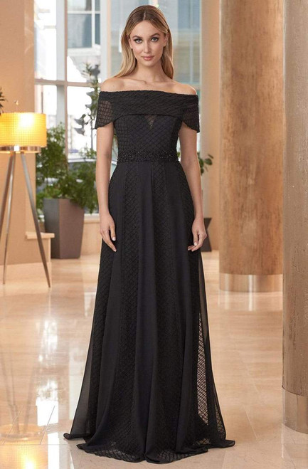 Alexander by Daymor 1050 Off-shoulder Fitted Bodice Gown