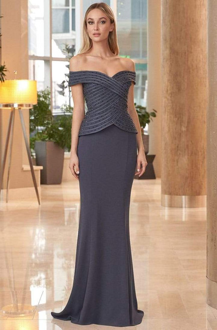 Alexander by Daymor 1062 Fitted Bodice Off-shoulder Gown