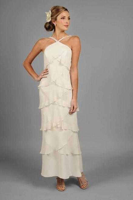 Alexander by Daymor 34512 Sleeveless Beaded Neck Dress