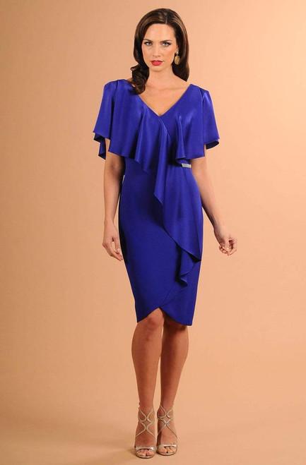 Alexander by Daymor 609 Drape Short Sleeve Sheath Dress