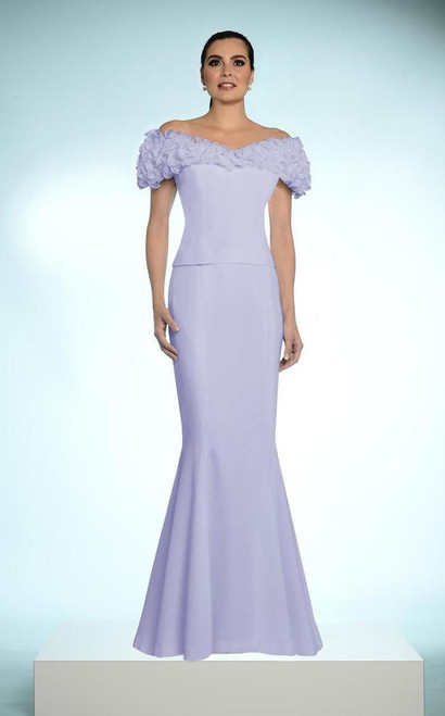 Alexander by Daymor 702003 Ruffled Off Shoulder Long Gown