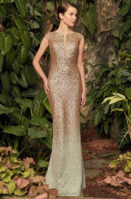 Alexander by Daymor 959 Jewel Fitted Cap Sleeves Gown