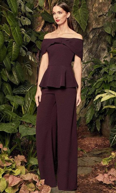 Alexander by Daymor 990B Off Shoulder Top With Leg Pants