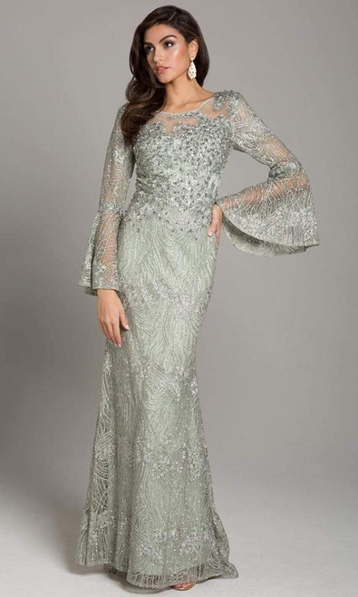 Lara Design 29887 Bell Sleeves Embellished Lace Gown