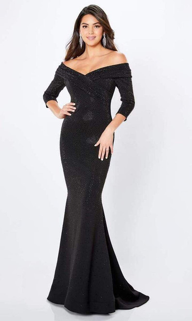Montage by Mon Cheri 221970 Off-shoulder Sparkle Beaded Gown