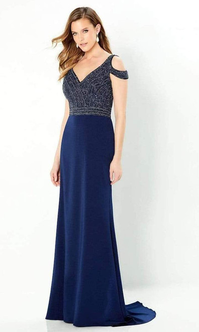 Montage by Mon Cheri 220951 Embellished V-neck Long Gown